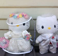 HELLO KITTY, SANRIO, WEDDING SET,BRIDE & GROOM, PLUSH DOLLS, VERY RARE