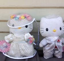 HELLO KITTY, SANRIO, WEDDING SET,BRIDE & GROOM, PLUSH DOLLS, VERY RARE