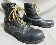 VTG UNBRANDED BLACK LEATHER WORK JUMP COMBAT MILITARY PUNK OI BOOTS 11 D