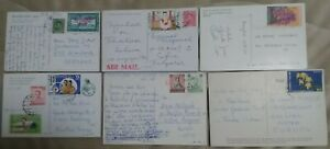nice lot of 11 Used Thailand Bangkok view Postcard 1970's-80's send to Europa