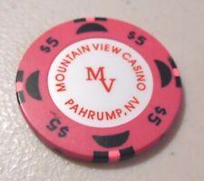 CASINO CHIP $5. MOUNTAIN VIEW CASINO PAHRUMP, NV.