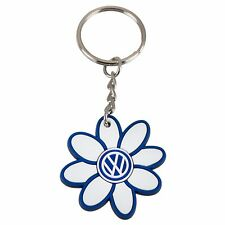 VW Volkswagen Driver Gear White Daisy Key Chain Beetle Jetta Golf Passat NEW OEM