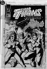 Team Titans 21 Original Cover TERRY DODSON Terra Kilowat Mirage Redwing Batalion Comic Art
