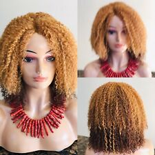 Handmade curly wig.Two-tone wig.