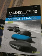 Maths Quest 12 Mathematical Methods Vce Units 3 and 4 Solutions Manual, L2