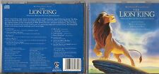 THE LION KING RE LEONE CD OST col. sonora ENGLISH VERS Elton John 94 WALT DISNEY