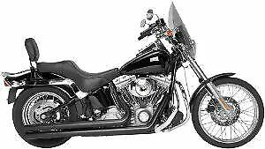 Black Long Exhaust Pipes Harley Softail Heritage Fatboy Chopper Rush Perform USA