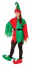 Ladies Xmas Elf Santa's Little Helper Jester Christmas Fancy Dress Size 12-16