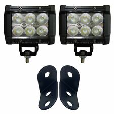 "Waterproof 3"" LED Pod Lights & Bolt-On Mounting Bracket Combo Polaris General"