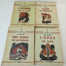 """Lot  4 livres scoutisme de la collection """"Le feu de camp"""": / dd"""