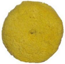 "Presta 890084WD 7-1/4"" Quik Pad Yellow Blended Wool Medium Cutting Pad"