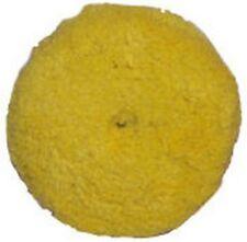 "Presta 890084WD 7-1/4"" Quik Pad Yellow Blended Wool Medium Cutting Pad"