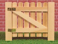 Escala 1:12 acabado natural De madera estaquilla puerta tumdee Casa De Muñecas Accesorio de jardín