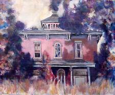 """Bennington Vermont Farmhouse, Historic  24""""x29"""" Oil on canvas  HALL GROAT II"""