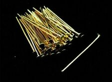 100 x 40mm Gold Plated Head Pins Jewellery Craft Findings FREE UK P+P L118