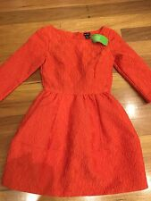 H&M Red Dress Size 8 Au, Size 4 Us , Long Sleeves New Bnwt $49
