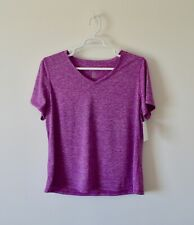 bb58bc02b53 Ideology Plus Size Top 3X Semi-Fitted V-neck Active T-Shirt Purple