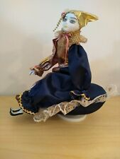 """9"""" Tall Porcelain Doll JESTER Musical Box """"Send in the Clowns"""" Wal-Mart P-4294"""