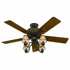 Hunter Ceiling Fan Quiet Indoor Downrod Close Mount Ceiling Light Kit 52 inch