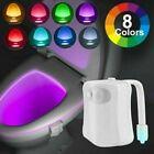 8 Farben Motion Sensor LED Toilettendeckel WC Sitz Klobrille WC RGB Nachtlicht