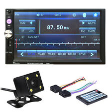 7 inch HD 2 DIN FM/MP5/MP3/USB Bluetooth Touch Car Screen Stereo Radio + Camera