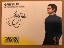 THE SECRET SERVICE: AUTOGRAPH CARD: GARY FILES AS THE VOICE OF SPIKER GF2