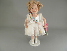 "Shirley Temple Baby Take A Bow Doll Danbury Mint Porcelain 10"" Movie Classics"
