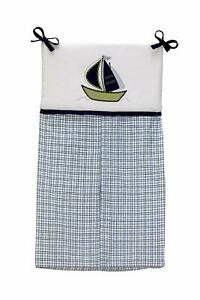 Nautica Kids Zachary Diaper Stacker Blue Sailor Boat Plaid Newborn Gift