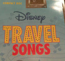 Disney Travel Songs Audio CD 15 Movie And Groovin' Tunes With Lyric Book NEW