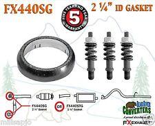 "2 1/4"" ID Exhaust Donut Gasket & Manifold Stud Spring Bolt Hardware KitFX440SG"