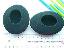 2 Ohrpolster Schaumstoff  97 x 75 mm oval für zB Sennheiser  HD490