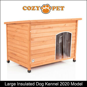 Dog Kennel by Cozy Pet L Size Insulated Wooden Puppy Kennels 2020 House DK01L