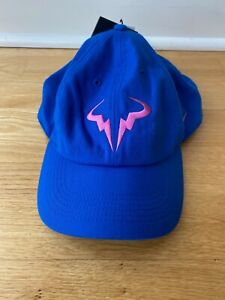 Rafael Rafa Nadal French Open Roland Garros Champion Blue Pink Nike Hat - NEW