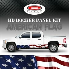 "American Flag Rocker Panel Graphic Decal Wrap Truck SUV - 12"" x 24FT"