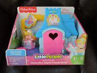 Fisher Price Little People Disney Princess Cinderella New Helpful Friends home