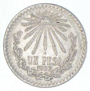 SILVER - WORLD Coin - 1923 Mexico 1 Peso - World Silver Coin *655