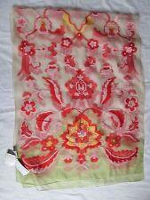 Belle écharpe  soie et coton brodé ECHO  TBEG - foulard Scarf  70 x 180 cm neuf