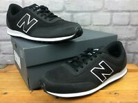 NEW BALANCE 373 MENS UK 9 EU 43 BLACK SILVER TRAINERS SUEDE AD