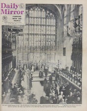 DAILY MIRROR NEWSPAPER 16 FEB 1952 . KING GEORGE VI FUNERAL . ROYALS