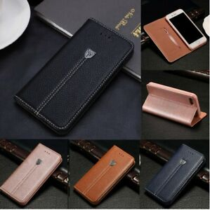 Luxury Magnetic Flip Wallet Leather Case Cover For iPhone 5 6 7 8 Plus X SE 2020