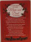 Denkmal Grab Karte IN Loving Speicher von Einem Dear Mum Und Dad At Weihnachten