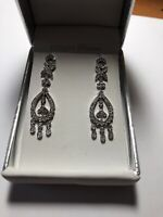 Crislu Platinum over Sterling Silver Cubic Zirconia Chanddelier Earrings