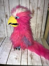 Pink Galah Large Bird Puppet by The Puppet Company with squeaker