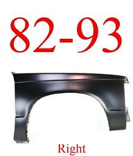 82 93 Chevy S10 Right Fender Panel, GMC, Rust Repair, 1.2MM Thick GM1241135