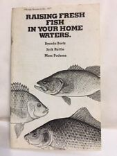 Raising Fresh Fish in Your Home Waters How-to-Book Rodale 1977 Booklet