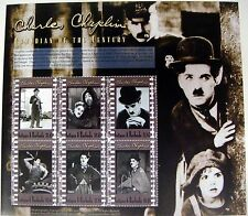 CHARLIE CHAPLIN STAMPS SHEET 2000 ANTIGUA & BARBUDA FAMOUS PEOPLE COMEDIAN MOVIE