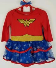 Infant Baby Girl Wonder Woman Red Tutu Dress with Cape Headband 6-12 Months