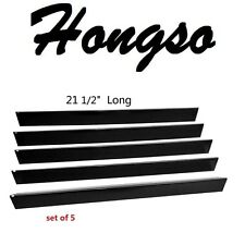 Porcelain Steel Flavorizer Bars Set Of 5 Barbaque Bbq Gas Grill Parts Black New