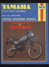Yamaha DT50MX DT80MX DT50M (1978-1985) Haynes Shop Manual DT 50 80 M MX-II CS73