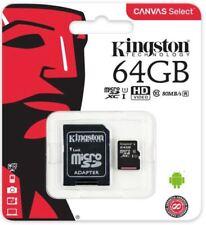 Kingston 64gb Micro SD Card SDXC TF Memory Card Class 10 UHS 1 + SD Adapter
